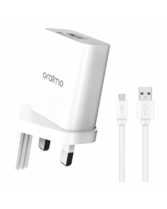 oraimo PE2.0 & QC3.0 Compatible Smart Fast Charging Wall Charger